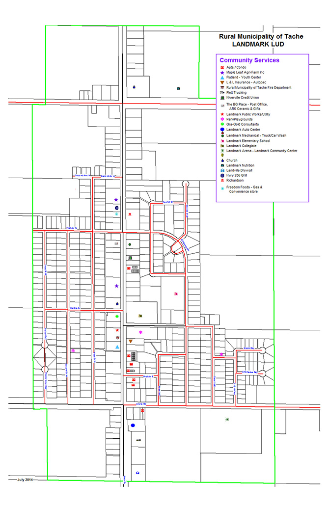 Community Services Map of Landmark