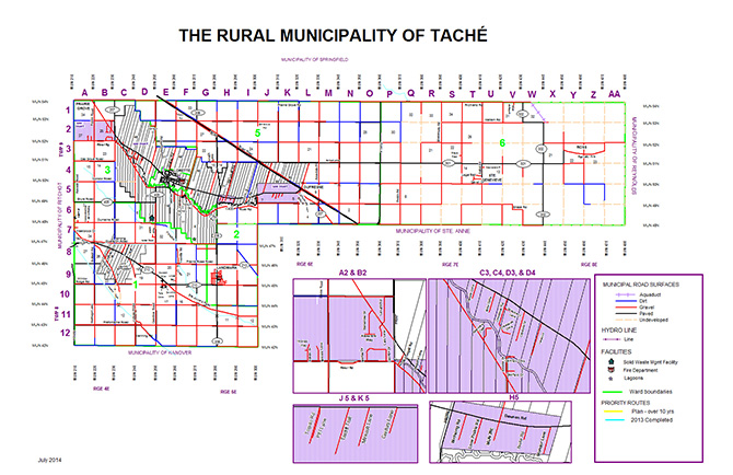 Map of the RM of Taché